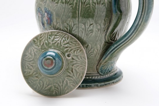 A&J Young Pottery teapot detail