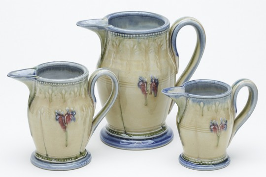 A&J Young Pottery pouring jug - cream