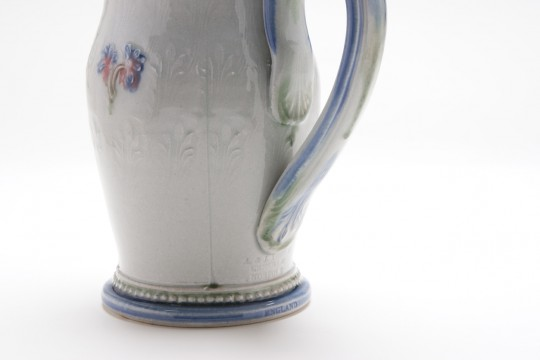 A&J Young Pottery pouring jug detail