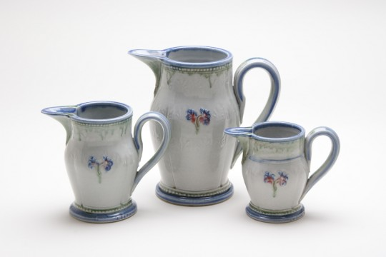 A&J Young Pottery pouring jug - white