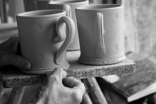 A&J Young Pottery making classic mug