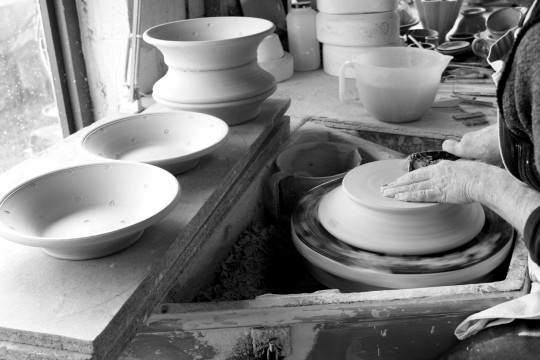A&J Young Pottery making pasta dish