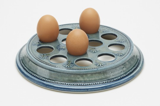 A&J Young Pottery - Egg Rack - Aqua
