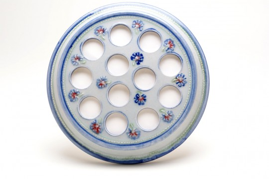A&J Young Pottery - Egg rack detail - White