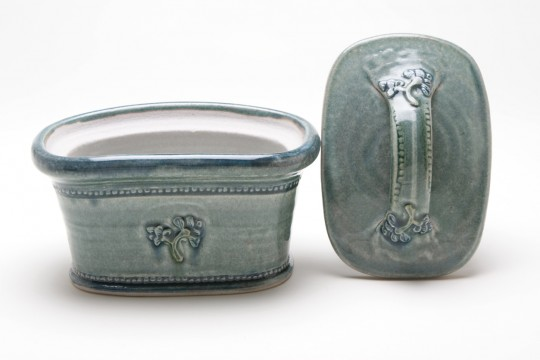 A&J Young Butter dish detail - Aqua