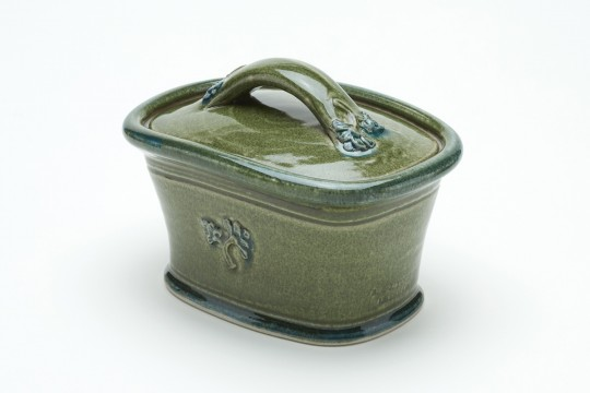 A&J Young Butter dish - Green