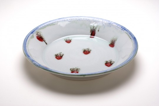 A&J Young Pottery large serving dish - white