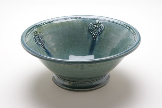 A&J Young Pottery Salad Bowl - Aqua