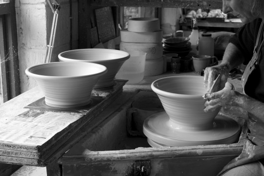 A&J_Young-Pottery-throwing salad bowls