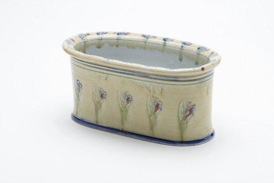 A&J Young Pottery smaller oval plant trough - cream